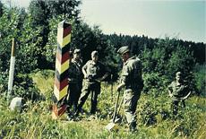 1967 werden grenzsäulen gesetzt